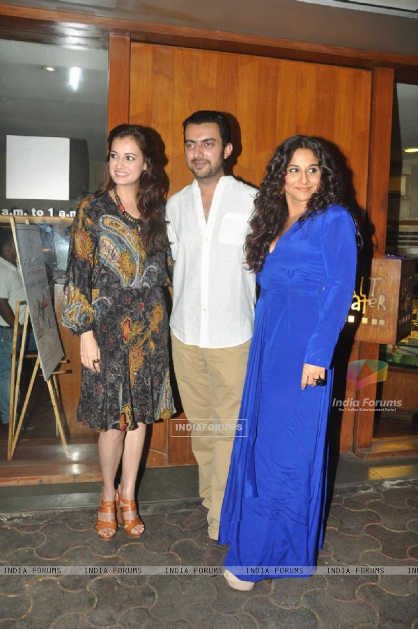 Dia Mirza, Sahil Sangha and Vidya Balan at Bobby Jasoos Wrap Party