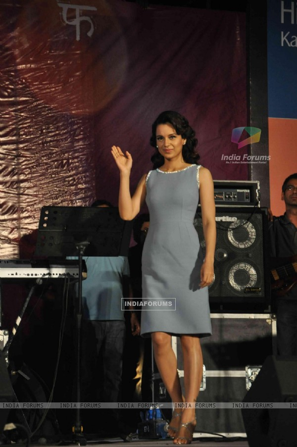Kangana Ranaut arrives at the Music launch of 'Queen'