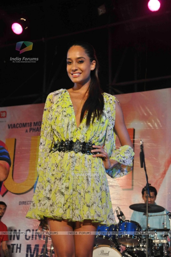 Lisa Haydon was seen at the Music launch of 'Queen'