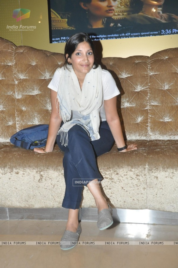 Maya Sarao was seen at the First Look of Ankhon Dekhi