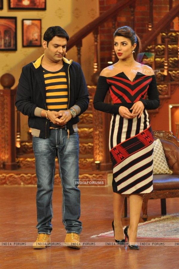 Priyanka Chopra at the Promotions of 'Gunday' on Comedy Nights with Kapil
