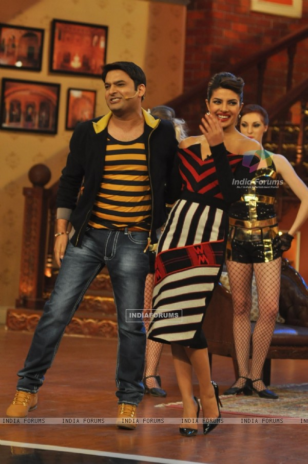 Kapil Sharma and Priyanka Chopra on Comedy Nights with Kapil