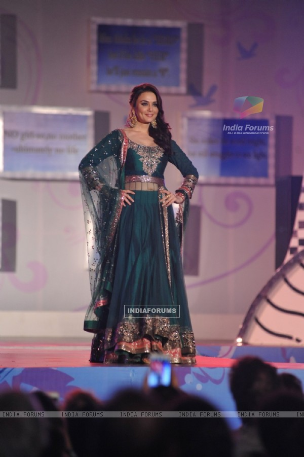 Preity Zinta walks the ramp at the Save & Empower The Girl Child event