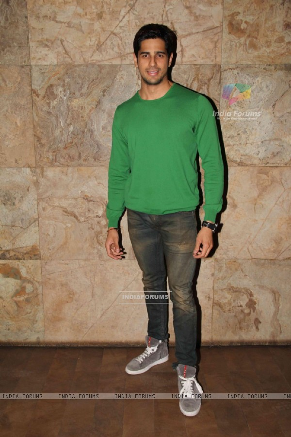 Sidharth Malhotra at the Special screening of 'Hasee Toh Phasee'