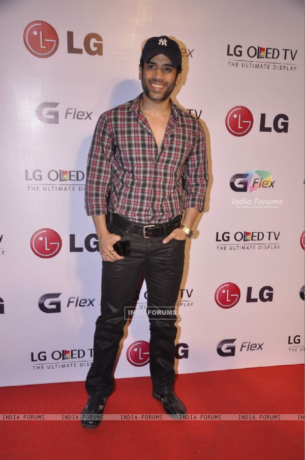 Tusshar Kapoor ar the LG OLED TV Promotional Event