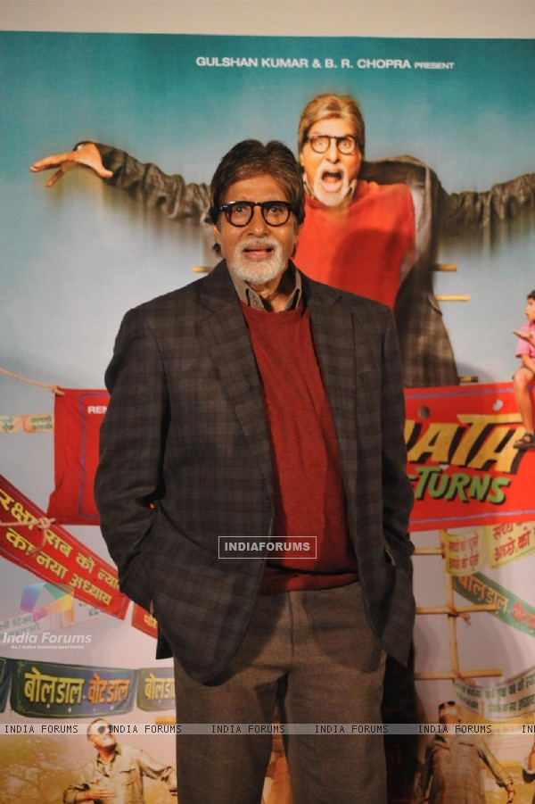Amitabh Bachchan at the Theatrical Trailer launch of Bhoothnath Returns