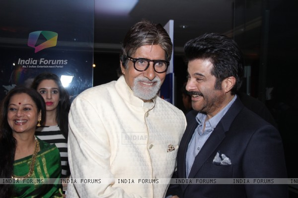 Amitabh Bachchan and Anil Kapoor at the MiD-DAY relaunch