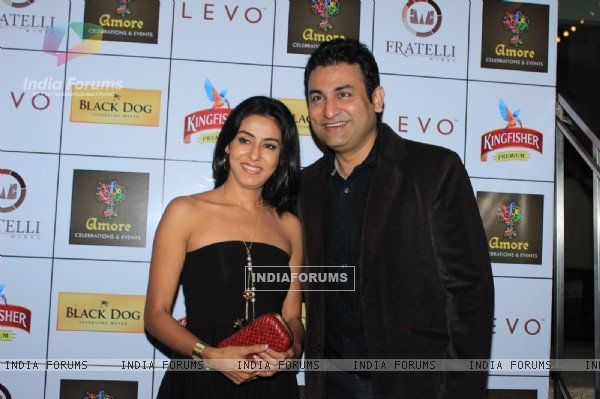 Nivideta Bhattacharya and Ashish Kapoor was at Amore Celebration and Events Launch Night