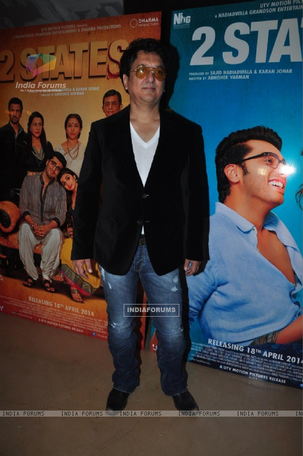 Sajid Nadiadwala at the Trailer launch of 2 States