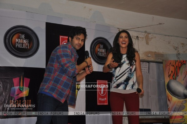 Nargis Fakri and Varun Dhawan at the Inauguraton of Mithibhai Film Festival