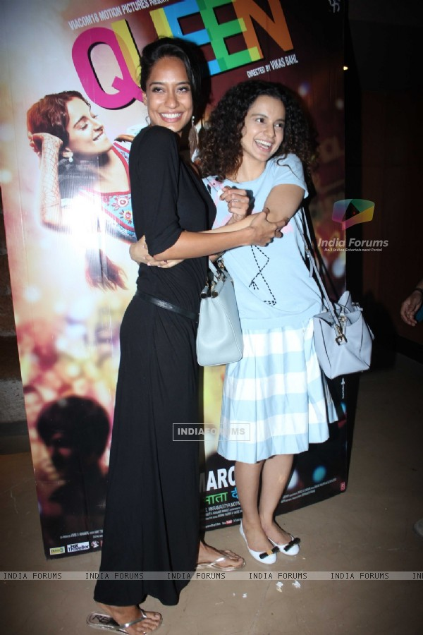 Kangana Ranaut and Lisa Haydon promotes Queen at PVR Cinemas