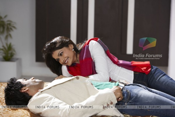 Lovable scene of Tusshar and Prachi