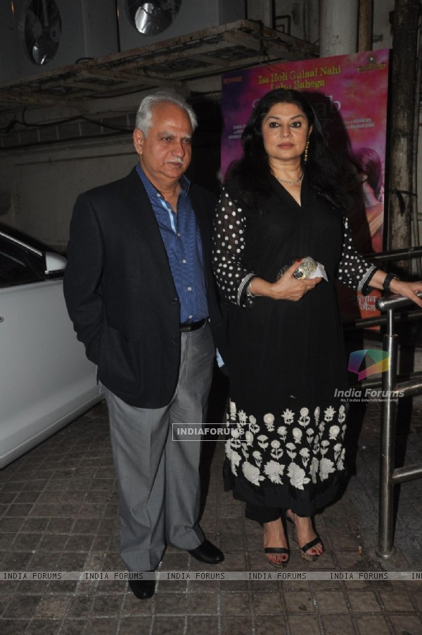 Ramesh Sippy and Kiran Juneja at the Special Screening of Gulaab Gang
