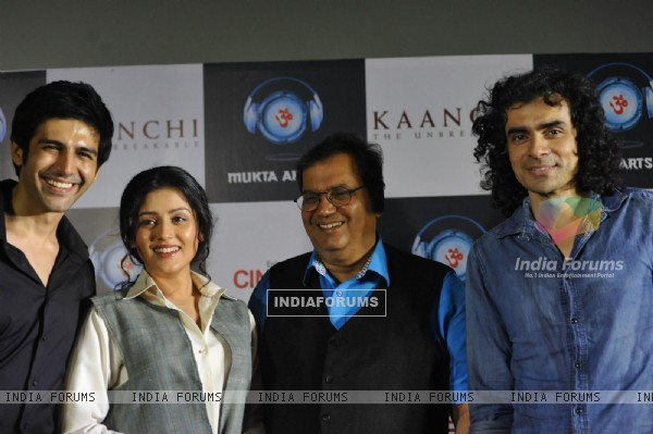The team at the Trailer launch of film Kaanchi - The Unbreakable