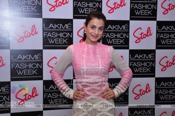 Ameesha Patel at the Stoli Lounge at Lakme Fashion Week