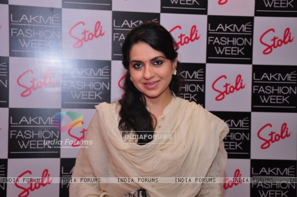 Shaina N. C at the Stoli Lounge at Lakme Fashion Week