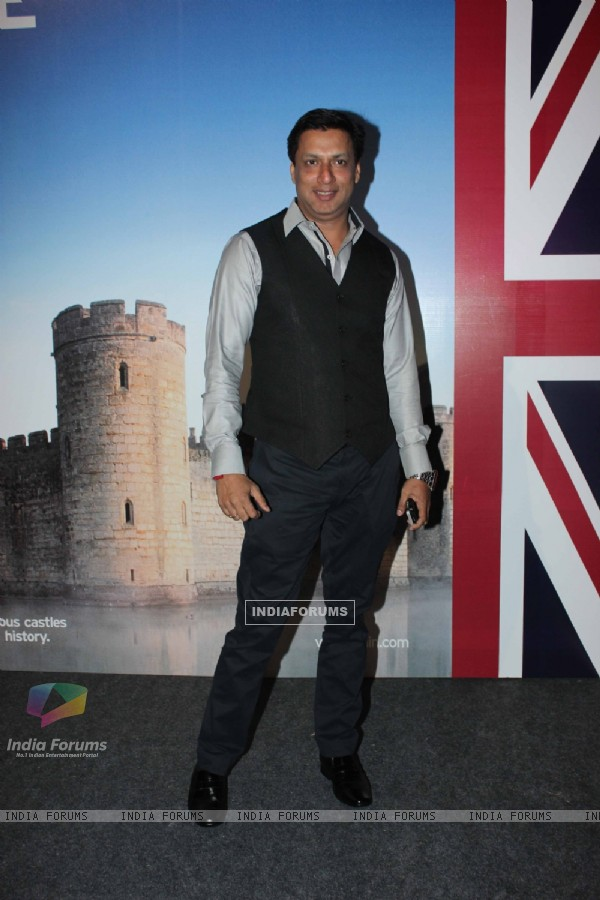 Madhur Bhandarkar at the launch of the Bollywood themed travel app by VisitBritain