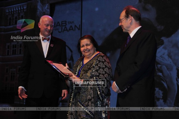 Pamela Chopra at the launch of the Bollywood themed travel app by VisitBritain