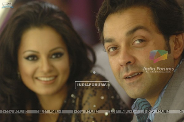 A still image of Bobby Deol and Kangna Ranaut