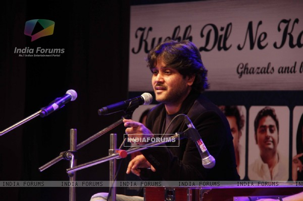 "Javed Ali performs at the Launch of the Ghazal Album ""Kuchh Dil Ne Kaha"""