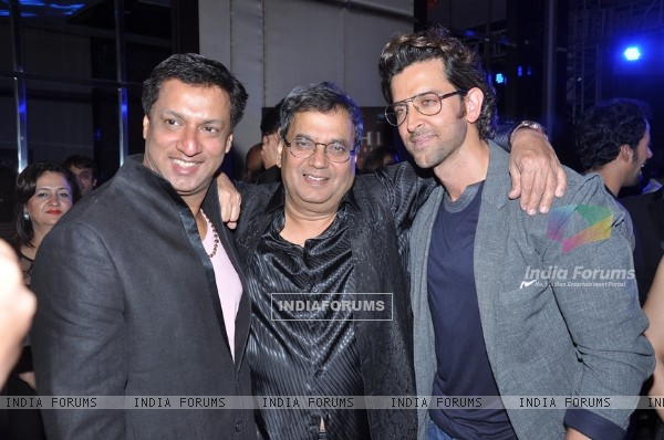 Madhur Bhandarkar, Subhash Ghai and Hrithik Roshan at the Music Launch of 'Kaanchi'