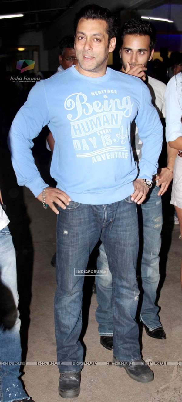 Salman Khan was at the Special Screening of O Teri