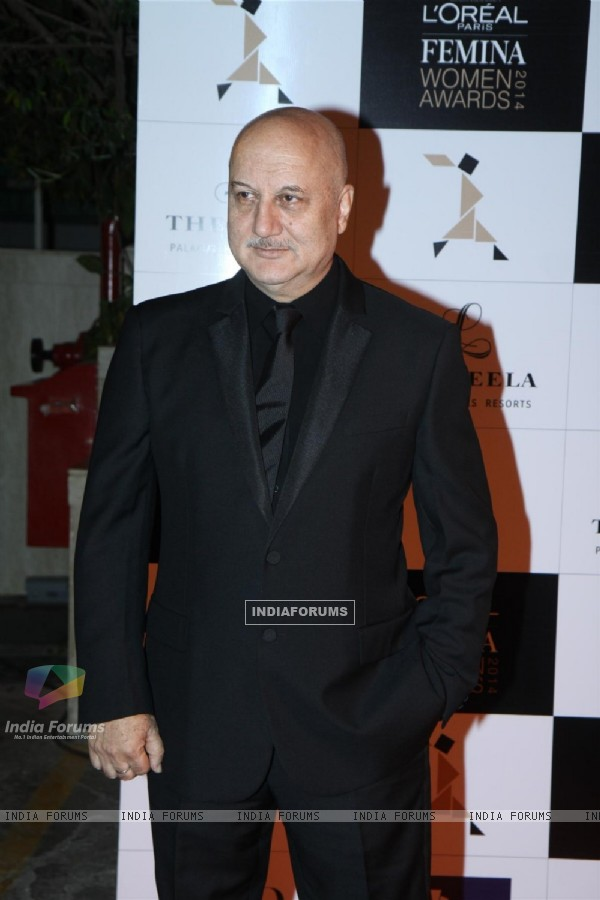 Anupam Kher was seen at the L'Oreal Paris Femina Women Awards 2014