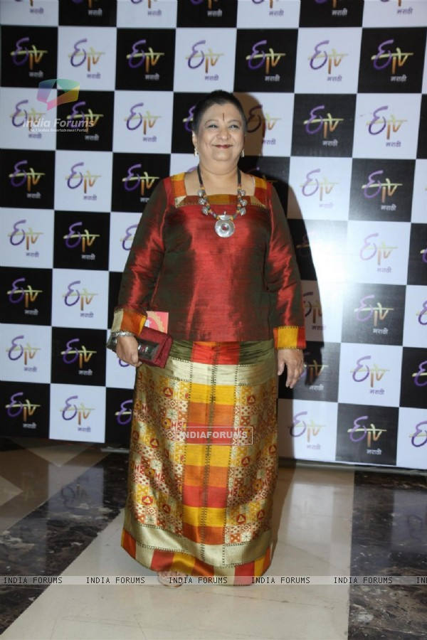 Bharti Achrekar was seen at ETV Marathi's Grand Gudip Padwa