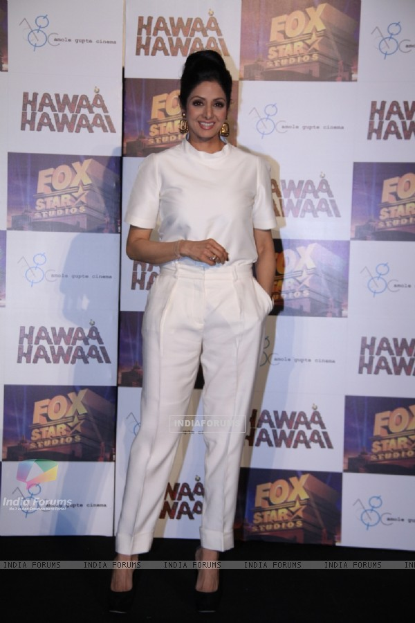 Sridevi was at the Trailer launch of Hawaa Hawaai
