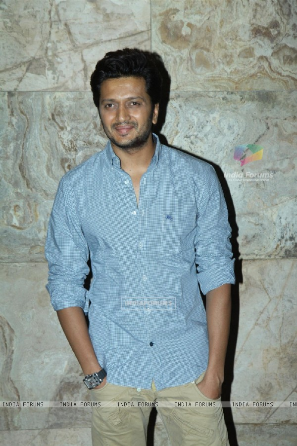 Riteish Deshmukh at the Special screening of Marathi film Yellow