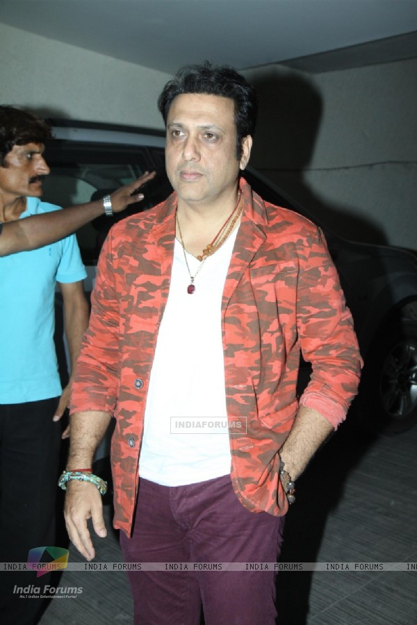 Govinda was at the Special screening of Marathi film Yellow