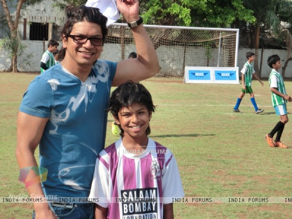 Shaan at the Junior Football Championship League