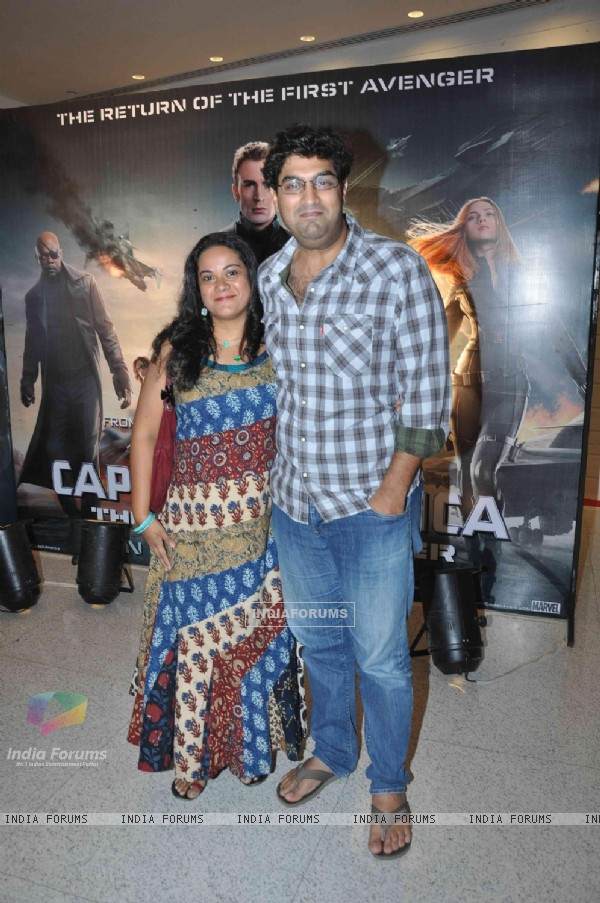Kunal Roy Kapur was seen at the Screening of Captain America: The Winter Soldier