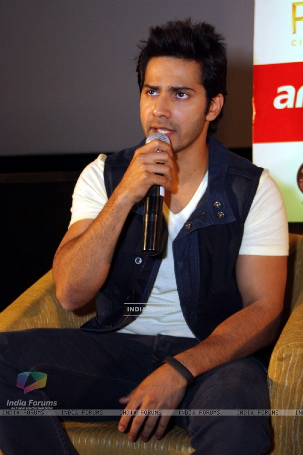 Varun Dhawan addresses the Press Conference to promote their upcoming film 'Main Tera Hero'