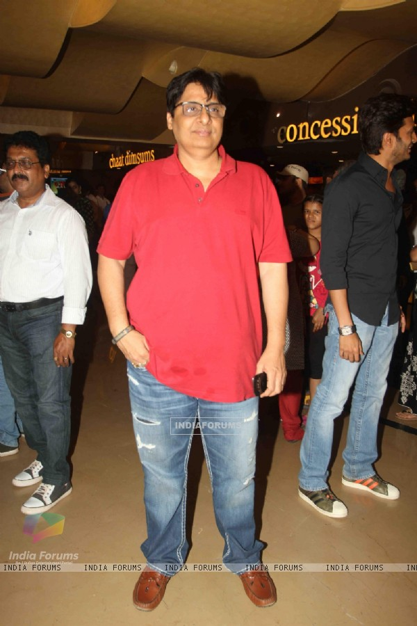Vashu Bhagnani was seen at the Screening of Marathi film Yellow