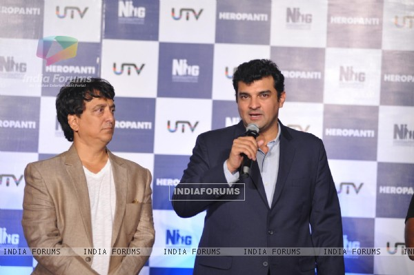 Siddharth Roy Kapoor addresses the Trailer launch of Heropanthi
