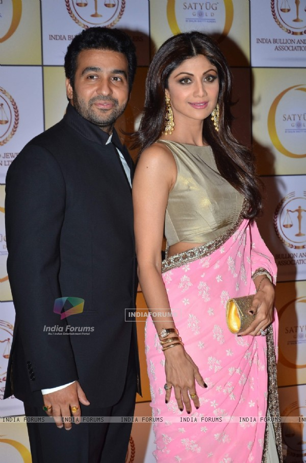 Raj Kundra and Shilpa Shetty were at the Launch of 'The Golden Era in India'