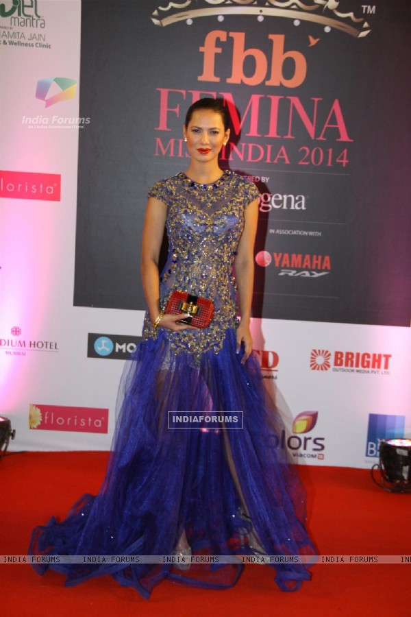 Rochelle Maria Rao was seen at Femina Miss India 2014
