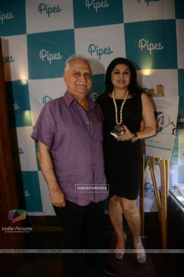Ramesh Sippy and Kiran Juneja at theLaunch party of a new mobile news-tracker application Pipes
