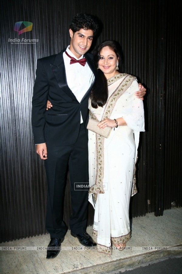 Tanuj Virwani with Rati Agnihotri at the Music launch of Purani Jeans