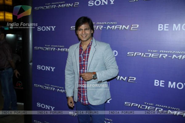 Vivek Oberoi meets Spiderman!