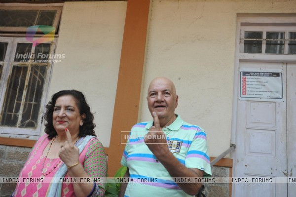 Prem Chopra shows his inked finger