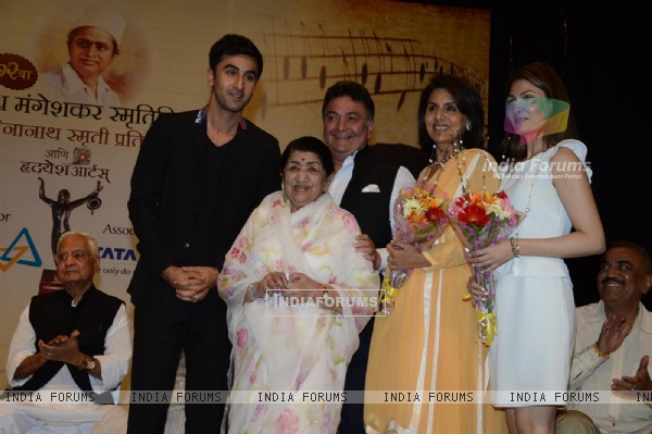 The Kapoor family at the 72nd Master Deenanath Mangeshkar Awards