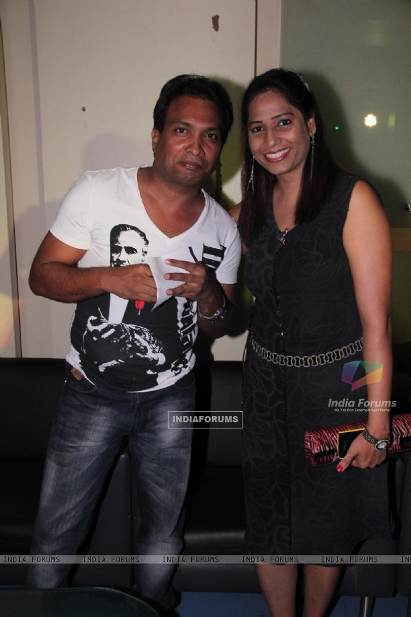 Sunil Pal was seen with his wife at Kishori Shahane's Birthday Party