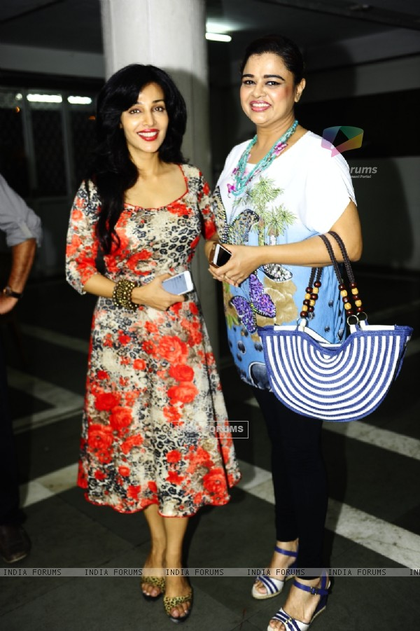 Flora Saini And Gulfam Khan was at the Premiere of the play 'Hum Do Hamare Woh'