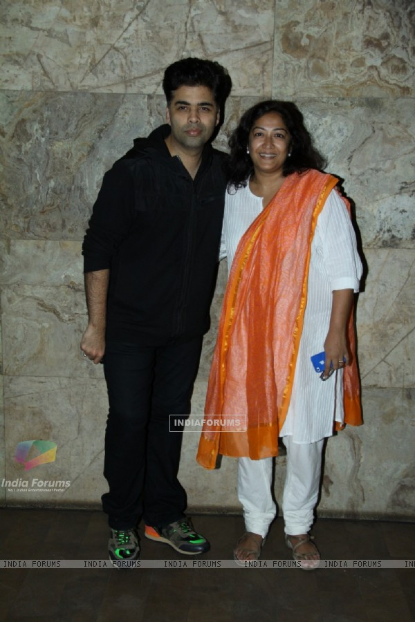 Karan Johar was at the Special Screening of Hawaa Hawaai