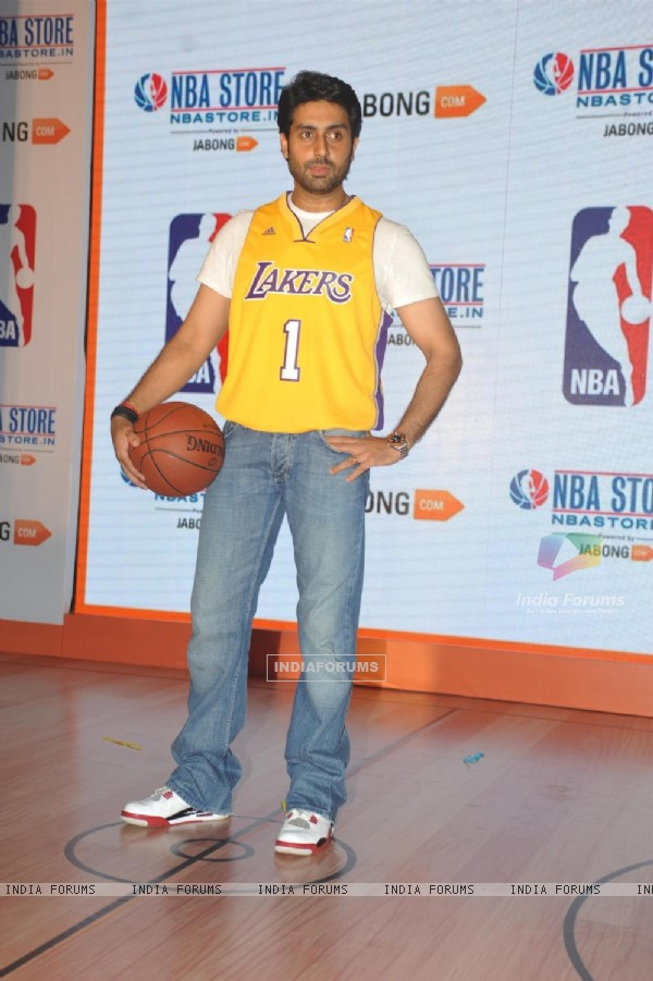 Abhishek Bachchan was at the Launch of NBA's first official online store in India