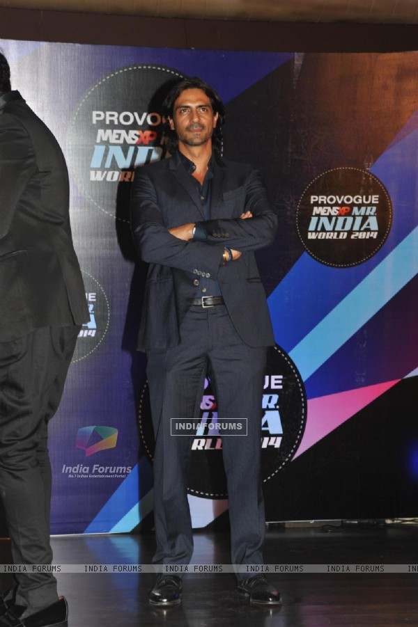 Arjun Rampal was at the Grand finale of 'Mr India 2014'