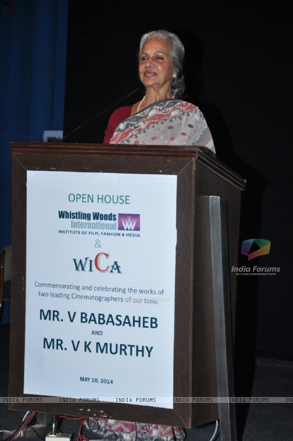 Waheeda Rehman was at the Tribute to Bollywood's veteran photographers V.K. Murthy & V.Babasaheb