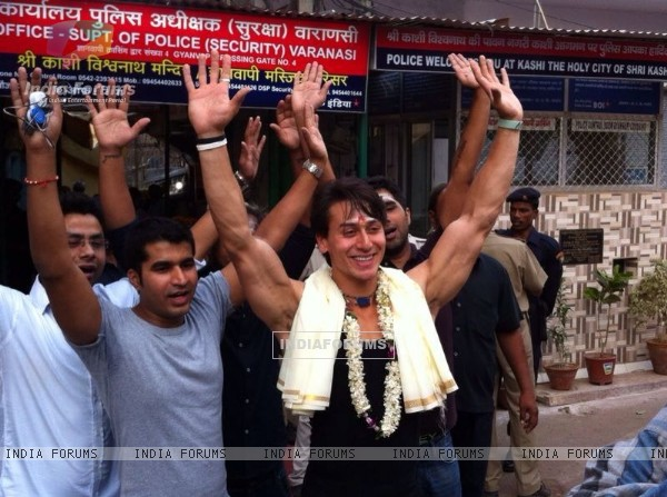 Tiger Shroff at Varanasi